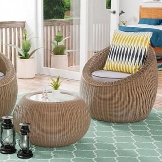 Furniture of America Descartes 2-Piece Patio Chair Set