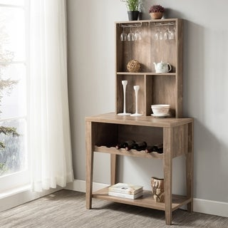 Furniture of America Willows Rustic Hazelnut Open Baker's Rack