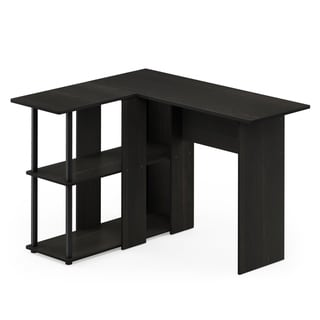 Porch & Den Dunckley Contemporary L-shape Desk With Bookshelf