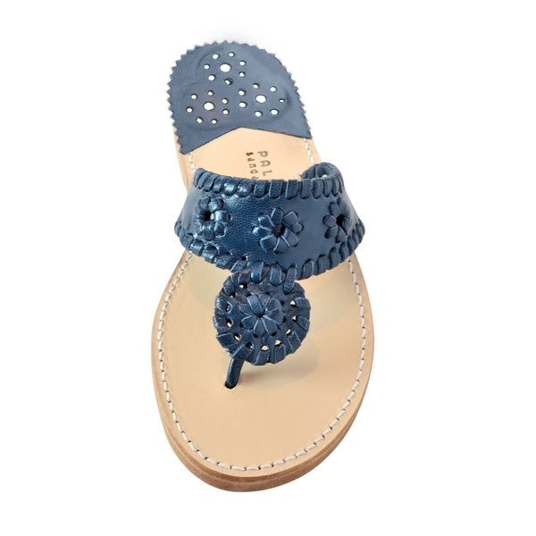 c1f1f4078ee8 Shop Palm Beach Handcrafted Classic Leather Sandals - Navy Navy ...