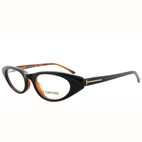 302cc73990 Tom Ford Cat-Eye FT 5120 005 Women Black on Havana Frame Eyeglasses