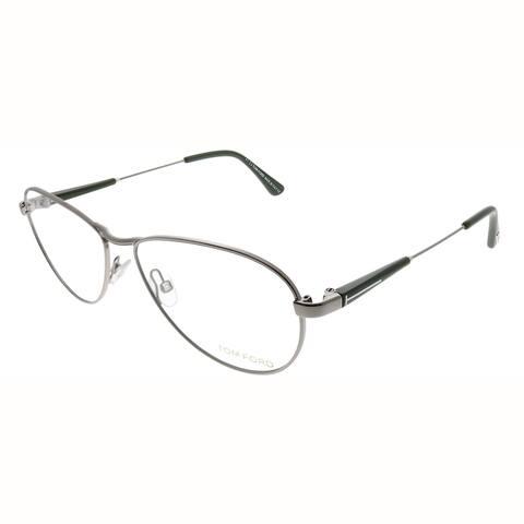 Tom Ford Aviator FT 5297 014 Unisex Silver Frame Eyeglasses