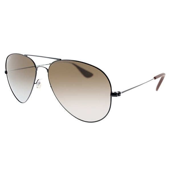 1aba635a8d Ray-Ban Aviator RB 3558 002 T5 Unisex Black Frame Brown Gradient Polarized  Lens