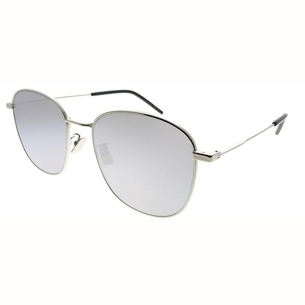 8393901fc0 Saint Laurent Square SL 273 K 003 Unisex Silver Frame Silver Mirror Lens  Sunglasses