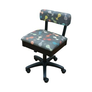 Arrow Cat's Meow Fabric Height Adjustable Hydraulic Sewing Chair - N/A
