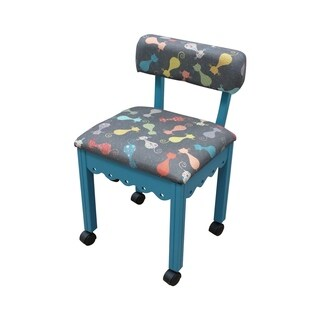 Arrow Cat's Meow Fabric Sewing Chair - Jewel Blue