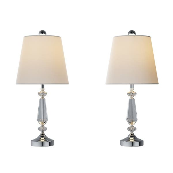 Crystal Candlestick Lamps Set Of 2