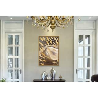 Chic Home Flying Birds 1 Piece Framed Wall Art Giclee Print - Multi-color