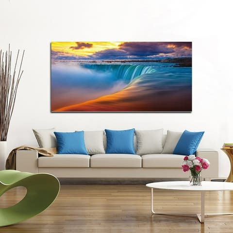 Chic Home Free Fall 1 Piece Wrapped Canvas Wall Art Giclee Print - Multi-color