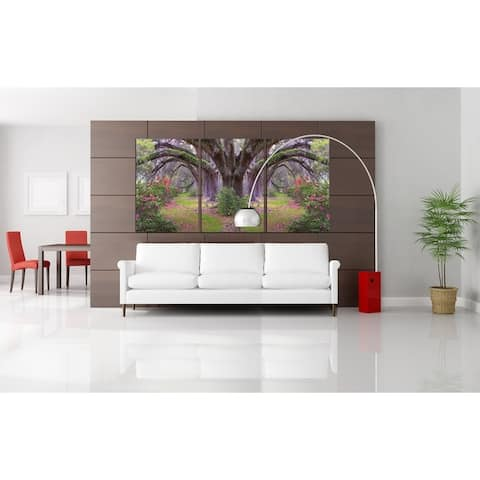 Chic Home Lavender Cherry 3 Piece Set Wrapped Canvas Wall Art - Multi-color