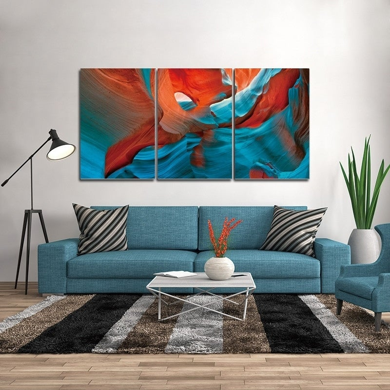 Chic Home Enigma 3 Piece Set Wrapped Canvas Wall Art Giclee Print Multi Color Overstock 25442652