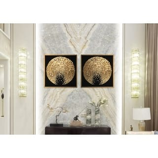 Chic Home Sunburst 2 Piece Set Framed Wall Art Giclee Print - Multi-color