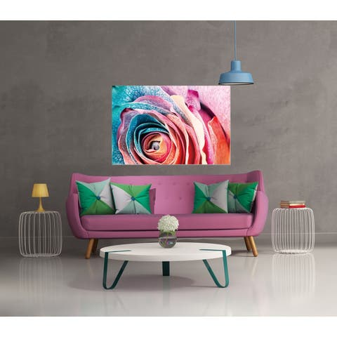 Chic Home Rosalia 1 Piece Wrapped Canvas Wall Art Giclee Print - Multi-color