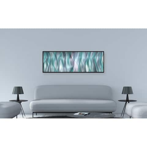 Chic Home Blue Flames 1 Piece Framed Wall Art Giclee Print - Multi-color
