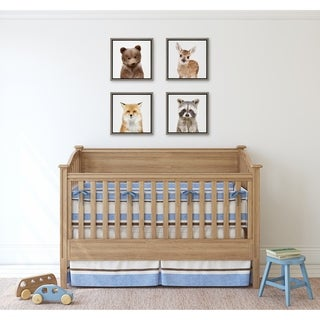Link to Kate and Laurel Sylvie 4 Pack Woodland Animal Framed Canvas Art Set - gray Similar Items in Matching Sets