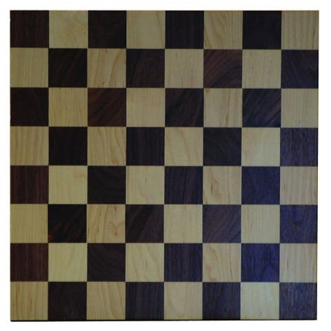 Brown Maple and Walnut Checker Board with Checkers