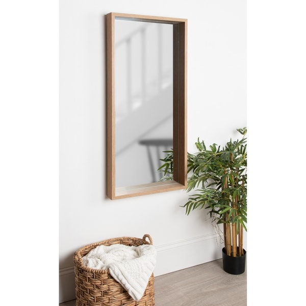 Kate and Laurel Rockwood Framed Wall Mirror - Natural