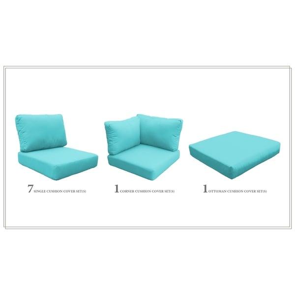 TK Classics Fairmont-12b High-back Patio Cushions (Set of 9) - Shop TK Classics Fairmont-12b High-back Patio Cushions (Set Of 9