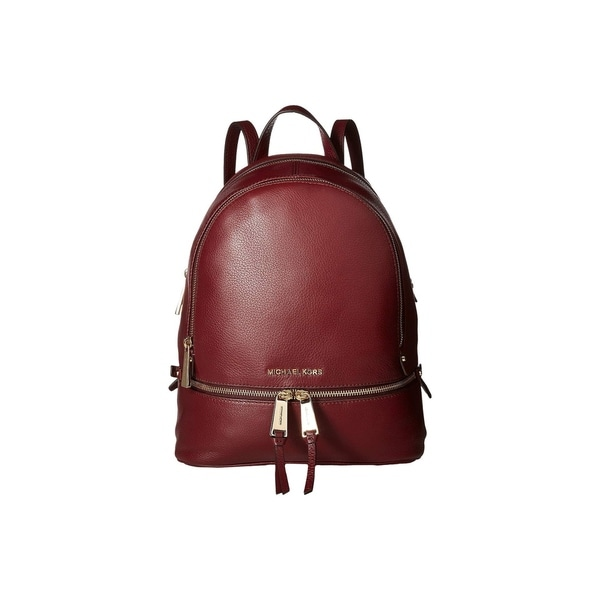 6070febb2c43 Shop MICHAEL Michael Kors Rhea Zip Small Backpack Oxblood - On Sale ...