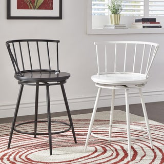 Olix Windsor Swivel Counter Stools with Low Back (Set of 2) by iNSPIRE Q Modern