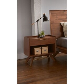 Waldorf Walnut 1-Drawer Nightstand