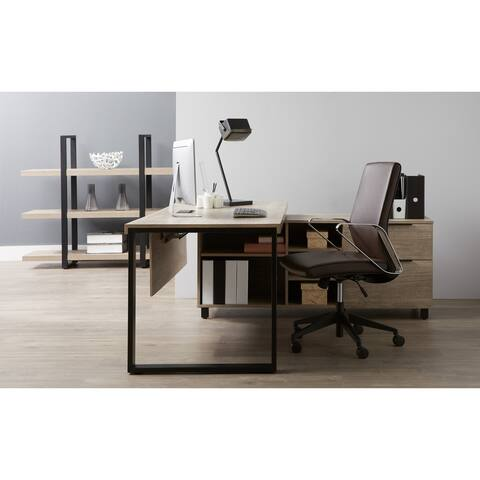 Everest Collection Executive Desk with Filing Right Cabinet