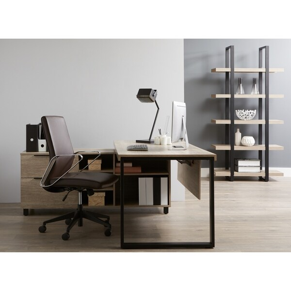 Everest Collection Executive Desk with Filing Left Cabinet