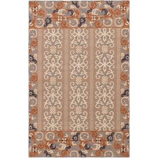ECARPETGALLERY  Flat-weave Tamar Tan Wool Sumak - 5'6 x 8'6