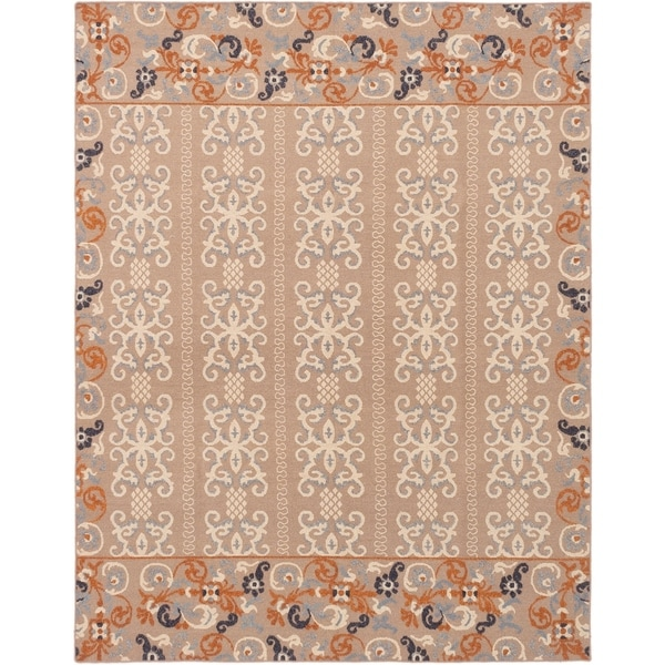 ECARPETGALLERY Flat-weave Tamar Tan Wool Sumak - 7'9 x 9'9