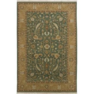 eCarpetGallery  Flat-weave Lahor Finest Dark Teal Wool Sumak - 5'7 x 8'8