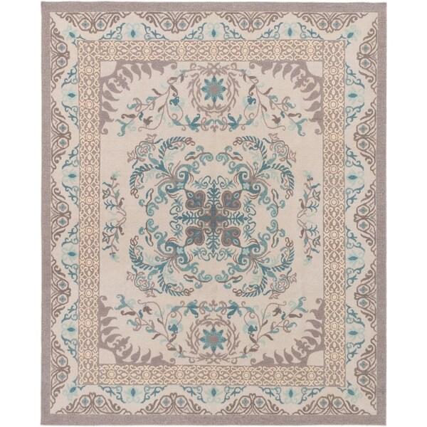 ECARPETGALLERY Flat-weave Tamar Light Grey Wool Sumak - 7'9 x 9'9
