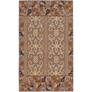 ECARPETGALLERY  Flat-weave Tamar Tan Wool Sumak - 3'6 X 5'6