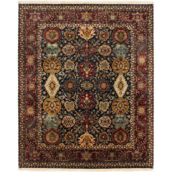 ECARPETGALLERY Hand-knotted Jamshidpour Dark Green Wool Rug - 8'0 x 9'10