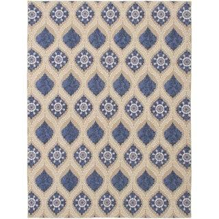 ECARPETGALLERY  Flat-weave Tamar Tan Wool Sumak - 8'6 x 11'6