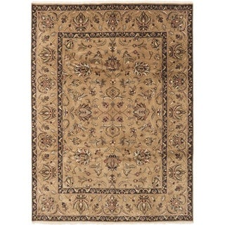 ECARPETGALLERY  Hand-knotted Finest Agra Jaipur Tan Wool Rug - 8'6 x 11'6