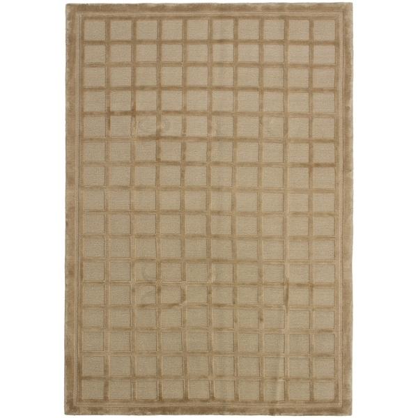 ECARPETGALLERY Hand-knotted Kathmandu Tan Wool Rug - 5'5 x 8'6