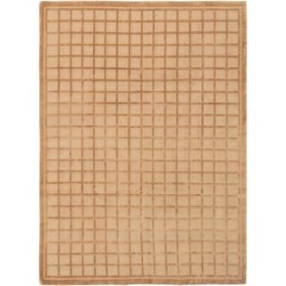 ECARPETGALLERY  Hand-knotted Kathmandu Tan Wool Rug - 8'6 x 11'6