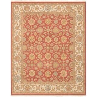 ECARPETGALLERY  Flat-weave Lahor Finest Red Wool Sumak - 7'9 x 9'9
