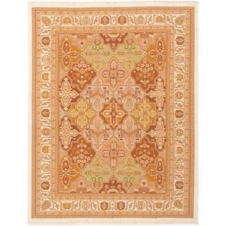 eCarpetGallery  Flat-weave Dynasty Brown Wool Sumak - 7'10 x 10'0