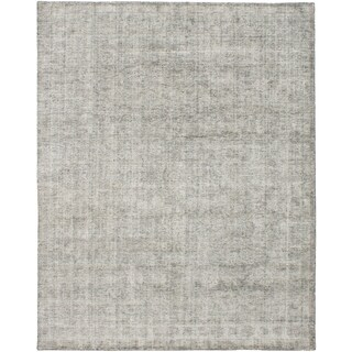 ECARPETGALLERY  Hand Loomed Galleria Grey Silk Rug - 8'0 x 10'0