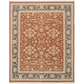 eCarpetGallery  Flat-weave Lahor Finest Brown Wool Sumak - 8'0 x 10'0