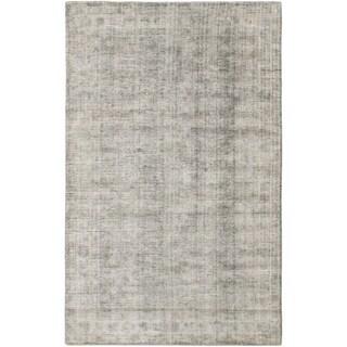 ECARPETGALLERY  Hand Loomed Galleria Grey Silk Rug - 5'0 x 8'0