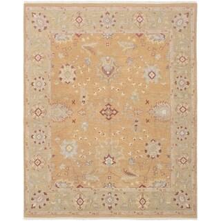 ECARPETGALLERY  Flat-weave Lahor Finest Tan Wool Sumak - 7'9 x 9'9