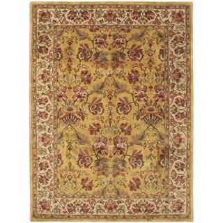 ECARPETGALLERY  Hand-knotted Varanasi Dark Gold Wool Rug - 8'0 X 11'0