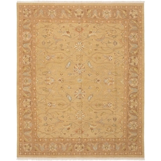 eCarpetGallery  Flat-weave Lahor Finest Tan Wool Sumak - 8'0 x 9'11
