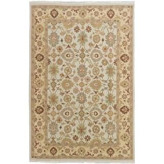 ECARPETGALLERY  Flat-weave Lahor Finest Cream Wool Sumak - 5'6 x 8'5