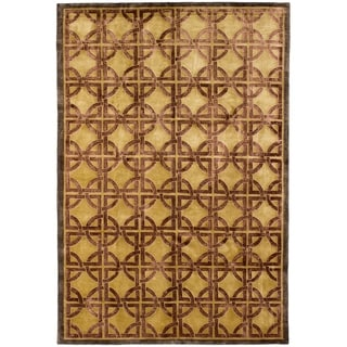 ECARPETGALLERY Hand-knotted Silk Touch Silk, Wool Rug