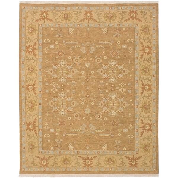 ECARPETGALLERY Flat-weave Lahor Finest Brown Wool Sumak - 7'11 x 9'10