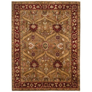 ECARPETGALLERY  Hand-knotted Royal Mahal Brown Wool Rug - 7'9 x 9'9