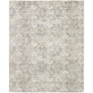 ECARPETGALLERY  Hand Loomed Galleria Light Grey Silk Rug - 8'0 x 10'0
